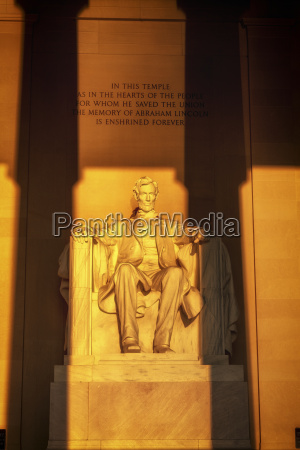 usa washington dc lincoln memorial at