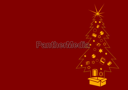 dotted christmas tree background