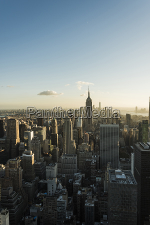 usa new york city cityscape with