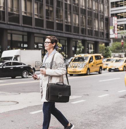 usa new york city woman in