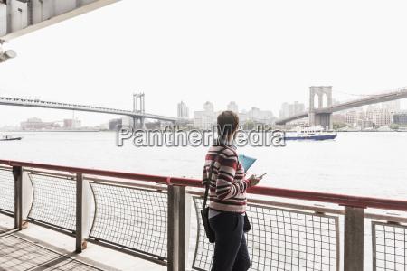 usa new york city woman at