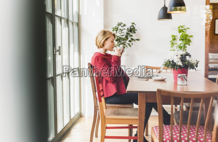 young woman with laptop in a