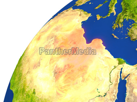 umwelt space afrika libyen weltraum illustration