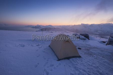 camping on summit of ryten mountain
