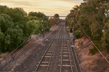 railway tracks to the distance