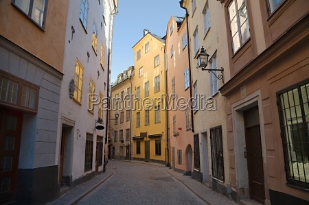 narrow streets of stockholm