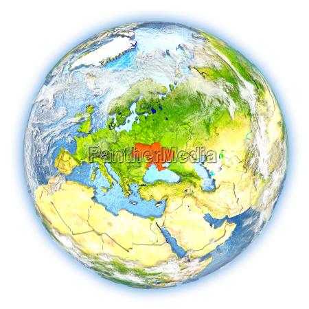 ukraine auf der erde isoliert