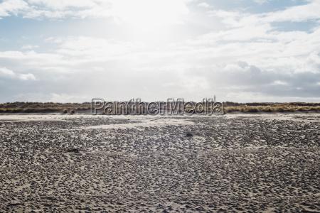daenemark skagen strand mit leuchtturm im