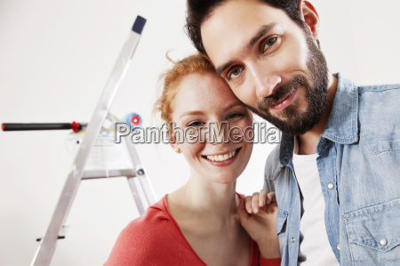 portrait of smiling young couple during