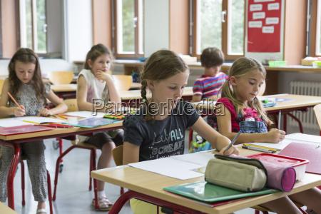 schuelerinnen im unterricht