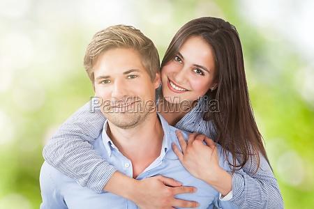 portrait of a happy couple