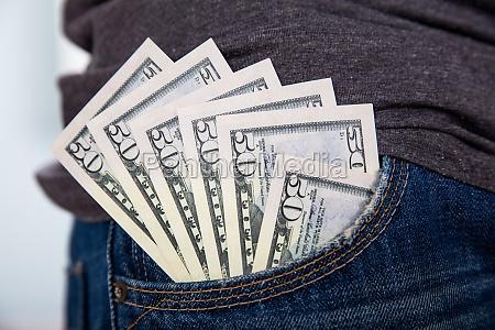 fuenfzig dollar hinweis jean pocket