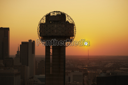 usa texas dallas aerial photograph of
