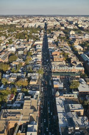 usa washington dc aerial photograph of