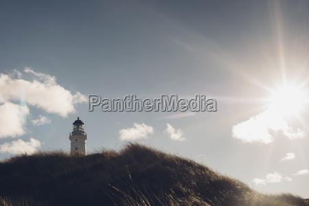 daenemark hirtshals leuchtturm an der kueste