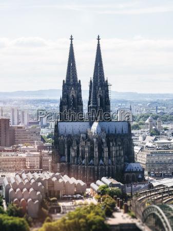 deutschland koeln blick von oben auf
