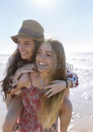 happy teenage girl giving her best