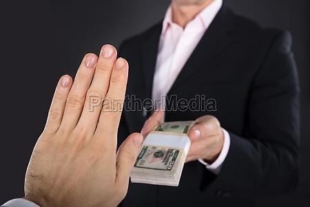 close up of a businessman hand