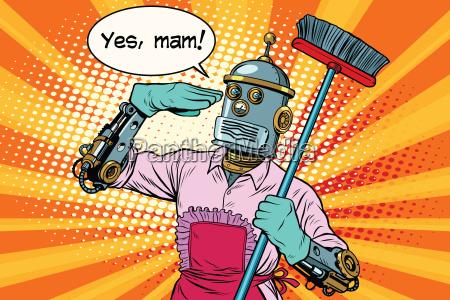 ja mam robot und reinigung des