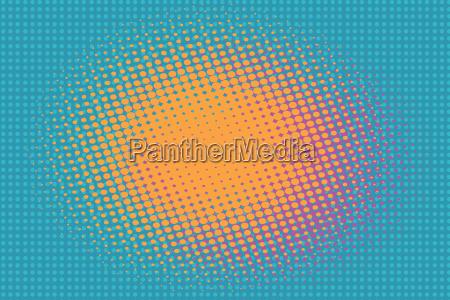 orange, spot, auf, einem, blauen, hintergrund, vintage - 20224377