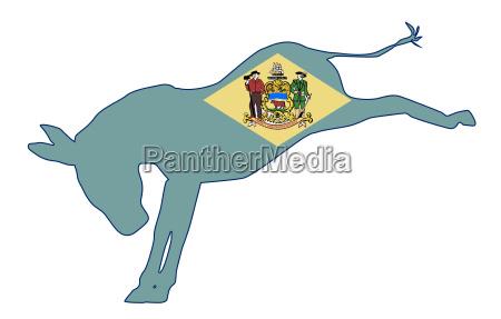delaware democrat donkey flagge