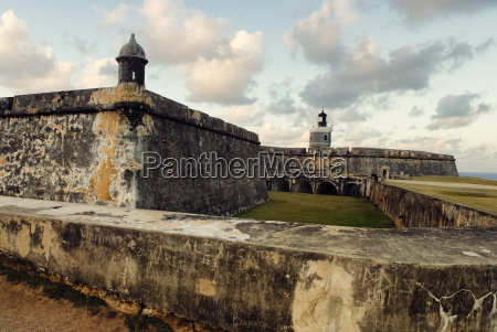 view of el morro fort with