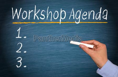 workshop agenda with checklist