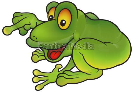 sitzen auf greinem frosch