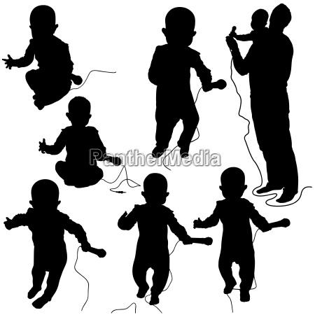 baby dj silhouettes