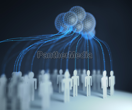 cloud computing interconnected people