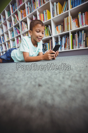 little boy using a smartphone