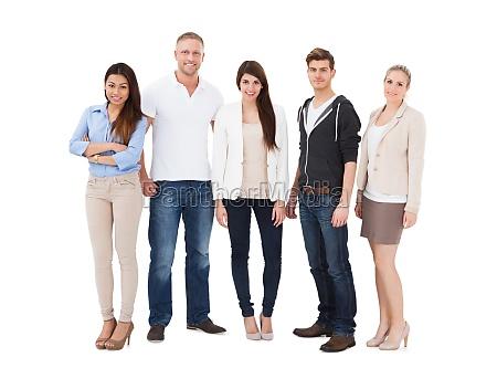 gruppe von personen die in folge