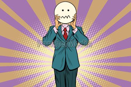 nerven skepsis mann smiley emoji gesicht