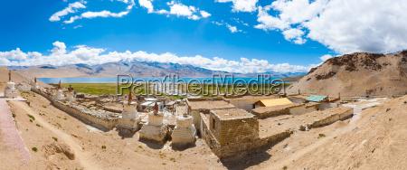 ladakh tso moriri lake panoramic view