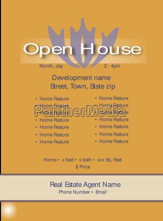open house vorlage fuer immobilienmakler