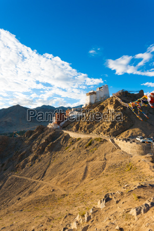 leh tsemo fort gompa valley mountains