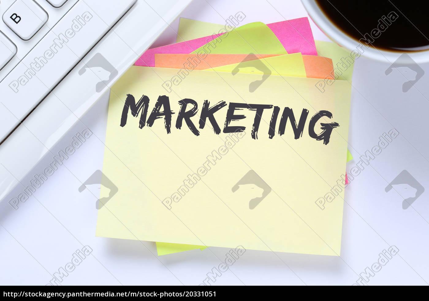 Stockfoto 20331051   Marketing Werbung Firma Büro Business Schreibtisch