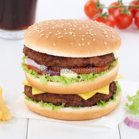double burger double burger hamburger cola