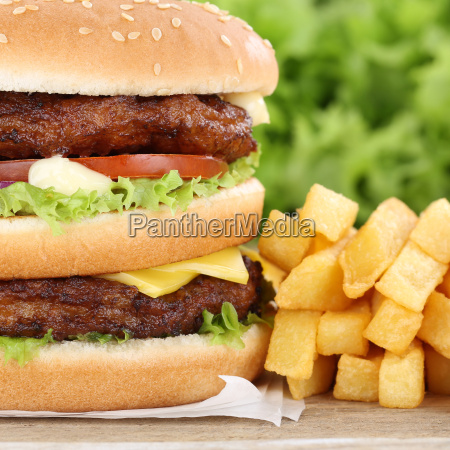 double burger double burger hamburger with