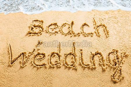 beach wedding concept