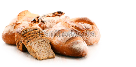 variety of baking products isolated on