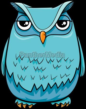 owl bird cartoon character