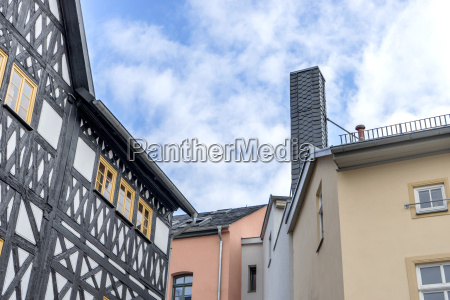historical house gables in weimar