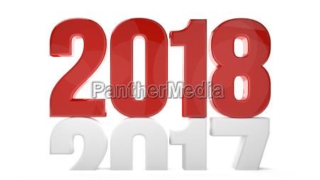 2018 2017 neues jahr sylvester 3d