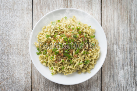 asian dried noodles top view