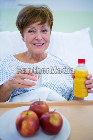 portrait of smiling patient having a
