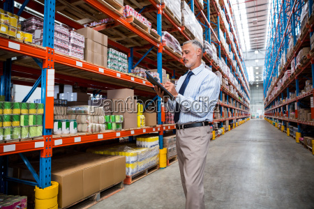 business man is concentrating during his