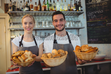 portrait of confident workers with fresh