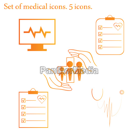 set medical icons