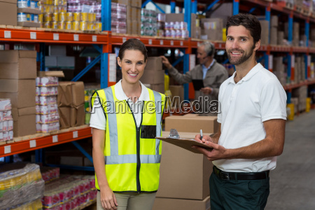 portrait of workers are smiling and